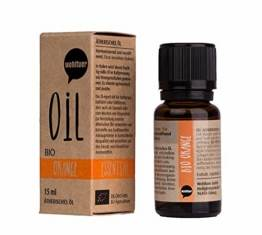 Wohltuer Bio Orangenöl Ätherisches Öl Orange Bio (15ml) Organic Essential Oil Orange Duftöl Aromaöl - 1